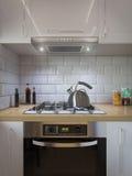 decorazione della cucina della rappresentazione 3d Interior design in uno stile moderno Immagini Stock