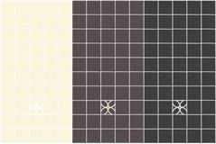 Decorazione della cucina delle mattonelle quadrate in fegato beige e scuro e nei colori dell'oliva nera Immagini Stock