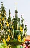 Decorazione della foglia della banana Fotografia Stock
