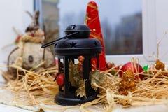 Decorazione della lampada-lanterna di Natale Immagini Stock Libere da Diritti