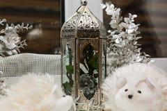 Decorazione della lampada-lanterna di Natale Fotografia Stock