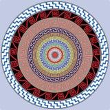 Decorazione della mandala Decorazione disegnata a mano di stile per il libro da colorare Modello rotondo della mandala floreale e royalty illustrazione gratis