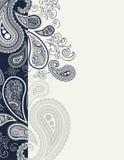 Decorazione della pagina di Cenefa Paisley Immagine Stock