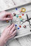 Decorazione della perla fatta a mano Immagine Stock