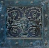Decorazione della porta (motivo del fiore) Fotografie Stock