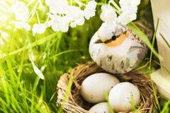 Decorazione della primavera con l'uccello Fotografie Stock