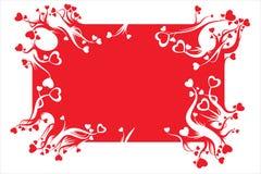 Decorazione della scheda del biglietto di S. Valentino Immagini Stock