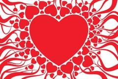 Decorazione della scheda del biglietto di S. Valentino Fotografia Stock