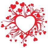Decorazione della scheda del biglietto di S. Valentino Immagine Stock Libera da Diritti