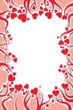 Decorazione della scheda del biglietto di S. Valentino Fotografia Stock Libera da Diritti