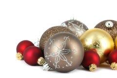 Decorazione della sfera di Buon Natale Fotografia Stock Libera da Diritti