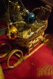 Decorazione della slitta di Natale Fotografia Stock Libera da Diritti
