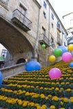 Decorazione della sorgente a Girona Spagna. Fotografia Stock Libera da Diritti