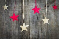 Decorazione della stella di Natale Immagini Stock Libere da Diritti