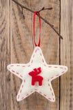 Decorazione della stella di Natale Fotografie Stock Libere da Diritti