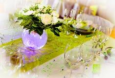 Decorazione della tabella di cerimonia nuziale Immagine Stock