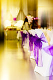 Decorazione della tabella di cerimonia nuziale Immagine Stock Libera da Diritti