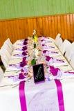 Decorazione della tabella di cerimonia nuziale Fotografia Stock Libera da Diritti