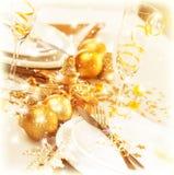 Decorazione della tabella di Natale Immagine Stock Libera da Diritti