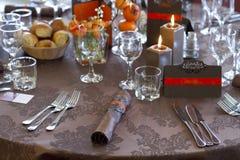 Decorazione della tabella di nozze Immagine Stock