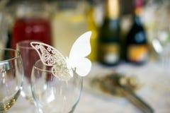 Decorazione della tavola di farfalla immagini stock