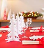 Decorazione della tavola di Natale Fotografie Stock