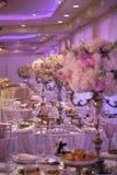 Decorazione della tavola di nozze Immagine Stock Libera da Diritti