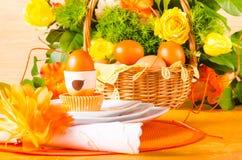 Decorazione della tavola di Pasqua Immagine Stock Libera da Diritti