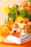 Decorazione della tavola di Pasqua Fotografie Stock
