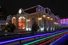 Decorazione della via di Natale del nuovo anno a Mosca Fotografia Stock