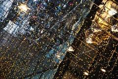 Decorazione della via di Natale, ghirlande del LED Fotografia Stock Libera da Diritti