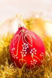 Decorazione delle bagattelle di Natale Fotografia Stock