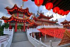Decorazione delle lanterne al tempio di Thean Hou Immagine Stock