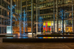 Decorazione delle luci di Natale alla corte di Gloucester a Londra Fotografie Stock Libere da Diritti