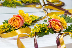 Decorazione delle rose Fotografie Stock