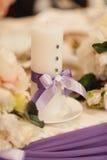 Decorazione delle tavole alle nozze Immagine Stock
