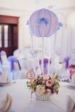 Decorazione delle tavole alle nozze Fotografie Stock