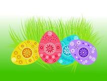 Decorazione delle uova di Pasqua Fotografie Stock Libere da Diritti