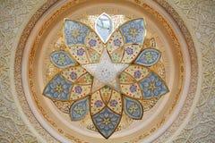 Decorazione dello sceicco Zayed Mosque. L'Abu Dhabi Fotografie Stock Libere da Diritti
