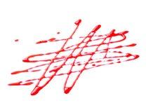 Decorazione dello sciroppo della bacca isolata su fondo bianco Fotografia Stock Libera da Diritti