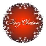 Decorazione di Buon Natale con le icone bianche della neve Fotografie Stock