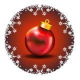 Decorazione di Buon Natale con le icone bianche a della neve Immagini Stock Libere da Diritti