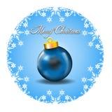 Decorazione di Buon Natale con le icone bianche a della neve Fotografia Stock Libera da Diritti
