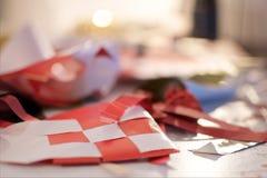 Decorazione di carta di Natale del cuore Immagini Stock Libere da Diritti