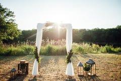 Decorazione di cerimonia di nozze Immagini Stock
