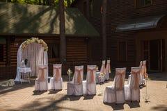 Decorazione di cerimonia nuziale Fotografie Stock Libere da Diritti