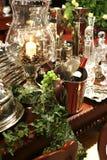 Decorazione di cristallo con vino fotografia stock