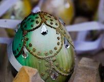 decorazione di cristallo di arte dell'uovo di Pasqua fotografie stock libere da diritti