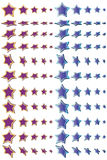 Decorazione di dimensione della stella illustrazione di stock