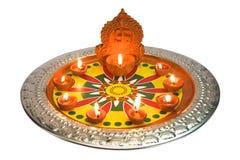 Decorazione di Diwali al festival di Diwali Fotografie Stock